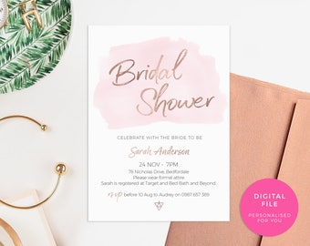 Printable bachelorette invitations, Hens party invites, Simple Bachelorette party invites, Bridal Shower invites, Bridal shower invitations