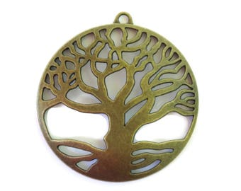 5 Antiqued Bronze Tree of Life Charms 61 x 58mm