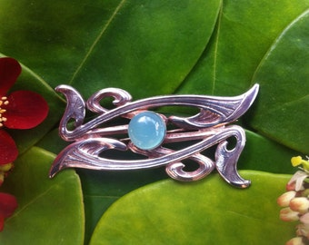 Sea Green Agate Brooch
