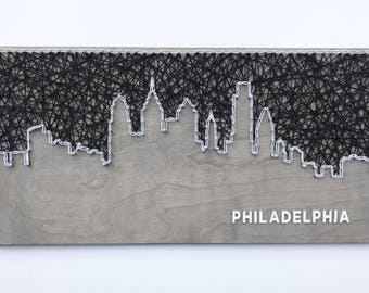 Philadelphia Skyline String Art, Philadelphia Skyline, Philadelphia Art, Pennsylvania Art