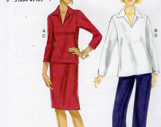 Vogue 8935 Free Us Ship Sewing Pattern Dress Top Skirt Pants 8/16 16/24 Bust 30 32 34 36 3840 42 44 46 New