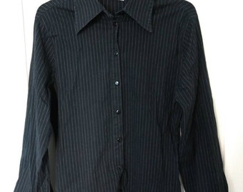 Petite black striped shirt
