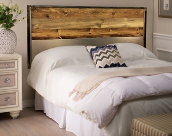 King Size Headboard - Bedroom Furniture - Wood/Metal Headboard