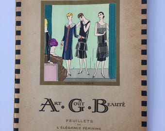ART GOUT BEAUTE, March 1926 Issue, Vintage French Magazine, Vintage Fashion Magazine, Vintage Hand Painted Prints, Vintage Ephemera,