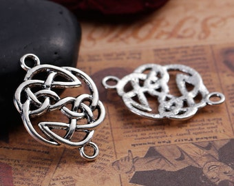 Antiqued Tibetan Silver Celtic Design Connectors