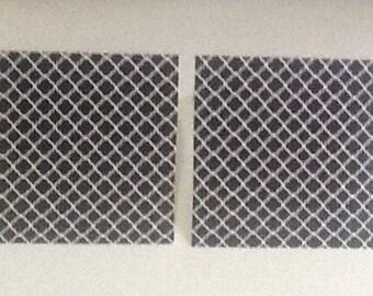 9 Black Quatrefoil Mini Note Cards