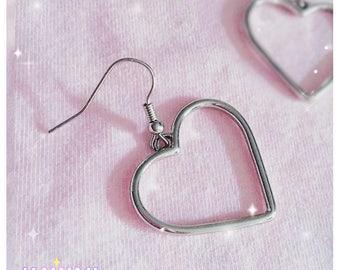 Cute Sweet Heart Earrings | KawaiiPartners