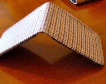 Plaid Wool Minimalist Wallet  7 Pocket Standard Bifold Merino Wool Billfold Mens wallet