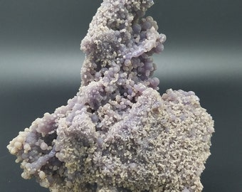 Museum Grade Manakarra Botryoidal Chalcedony Orbicular Grape Agate from Indonesia with Stand