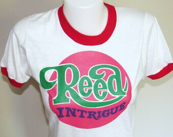 Retro 1970s Dead stock Reed Intrigue Ringer Tee size Small