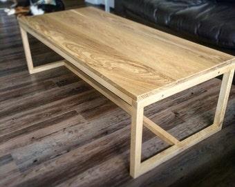 White oak coffee table, coffee table, wood coffee table