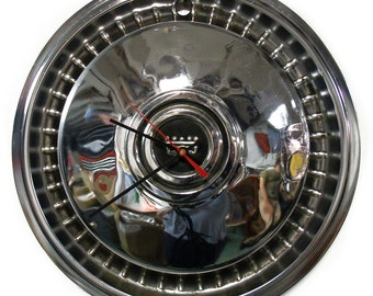 1971 - 1977 Ford Hubcap Clock - Torino, Galaxie 500, F100 - F350 - 1972 1973 1974 1975 1976 Vintage Aftermarket Knock Off Design