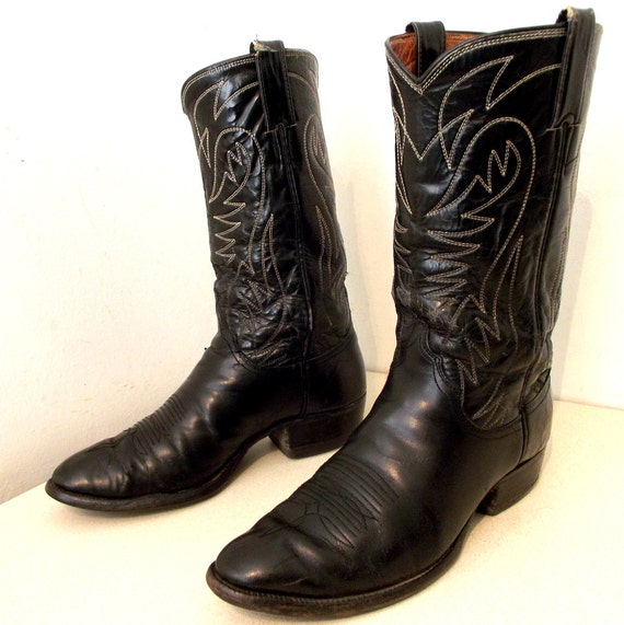 brand Western size 10 style Rockabilly D boots or 8 cowgirl cowboy Black 5 Justin size TwFf4Zcq