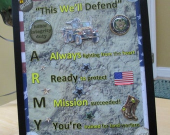 This We'll Defend ARMY Framed Poem
