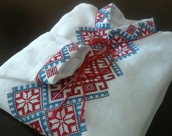 Vyshyvanka for boys Ukrainian Shirt with Embroidery 100% linen Kid's vyshyvanka