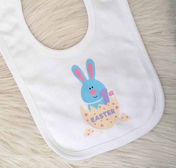 1st easter bib baby easter gift personalised easter gift uk negle Gallery