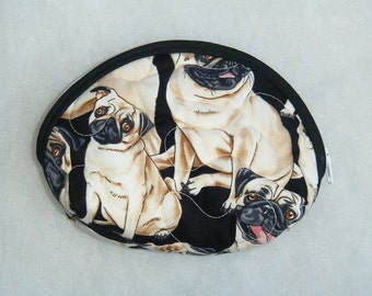 Small Quilted Purse - PUGS