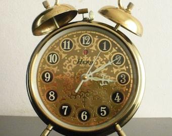 Vintage Hero China alarm clock mechanical twin bell