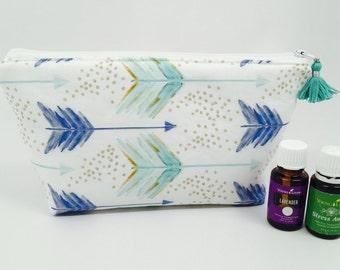 Essential Oil Bag, Essential Oil Case, Tassel Essential Oil Bag, Essential Oil Storage- holds up to 14 bottles, any brand! 5ML/15ML/Rollers