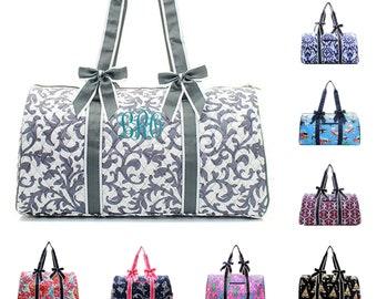 Monogram Duffle Bag - Personalized Duffle Bag - Coral Duffle Bag - Mint Duffle  Bag -