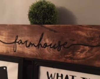 Rustic Wood Farmhouse Sign