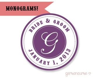 Personalized Monogram Designs - Good for Gift Bags, Jam and Jelly Labels, or Cupcake Toppers / DIGITAL FILE