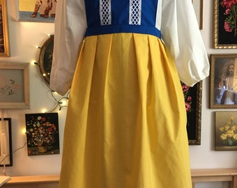 Swedish National Folk Costume Adult Dress and Pinafore