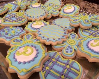 2 doz Whimsical Flower Birthday Cookies