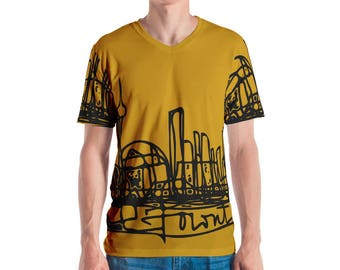 Toronto Skyline - Men's T-shirt, Shirt, Athletic Top, Marker Line drawing