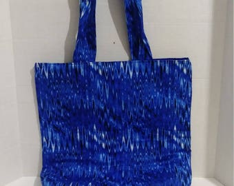 Beautifully made tote with water looking design and matching coin purse