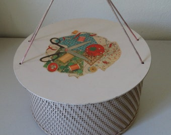 Vintage 1940's Princess Wicker Sewing Basket