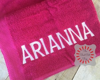 Personalized Bath Towel, Personalized Towel, Personalized Towel For Kids,  Kids Towel, Girl