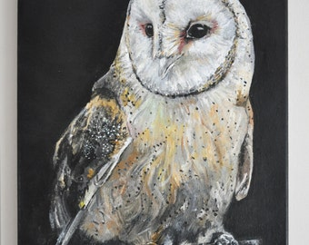 Barn Owl - Acrylic on Canvas