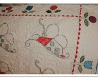 Welcome Home Lap Quilt or Wallhanging