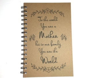 Mothers Day Gift, Birthday Gift to Mom, Journal, Notebook, Mom, Quote, Writing Journal, Spiral Notebook,  From Daughter, From Son, for Mom