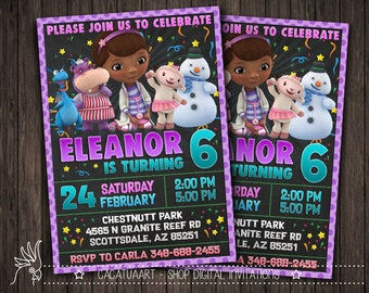 Doc mcstuffins invitations Etsy