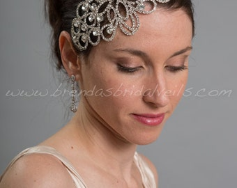 Rhinestone Bridal Hair Comb, Crystal Hair Piece, Wedding Head Piece, Rhinestone Fascinator - Stella