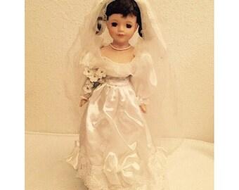 Vintage Porcelain Bride Doll