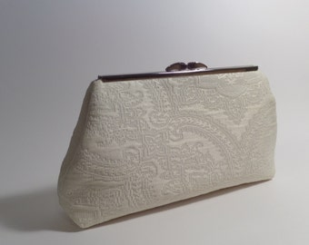 Lace Look Clutch in Cream Color