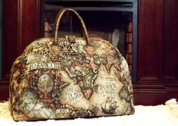Mary poppins style steampunk carpet bag travel bag old world mary poppins style steampunk carpet bag travel bag old world map tapestry gumiabroncs Choice Image