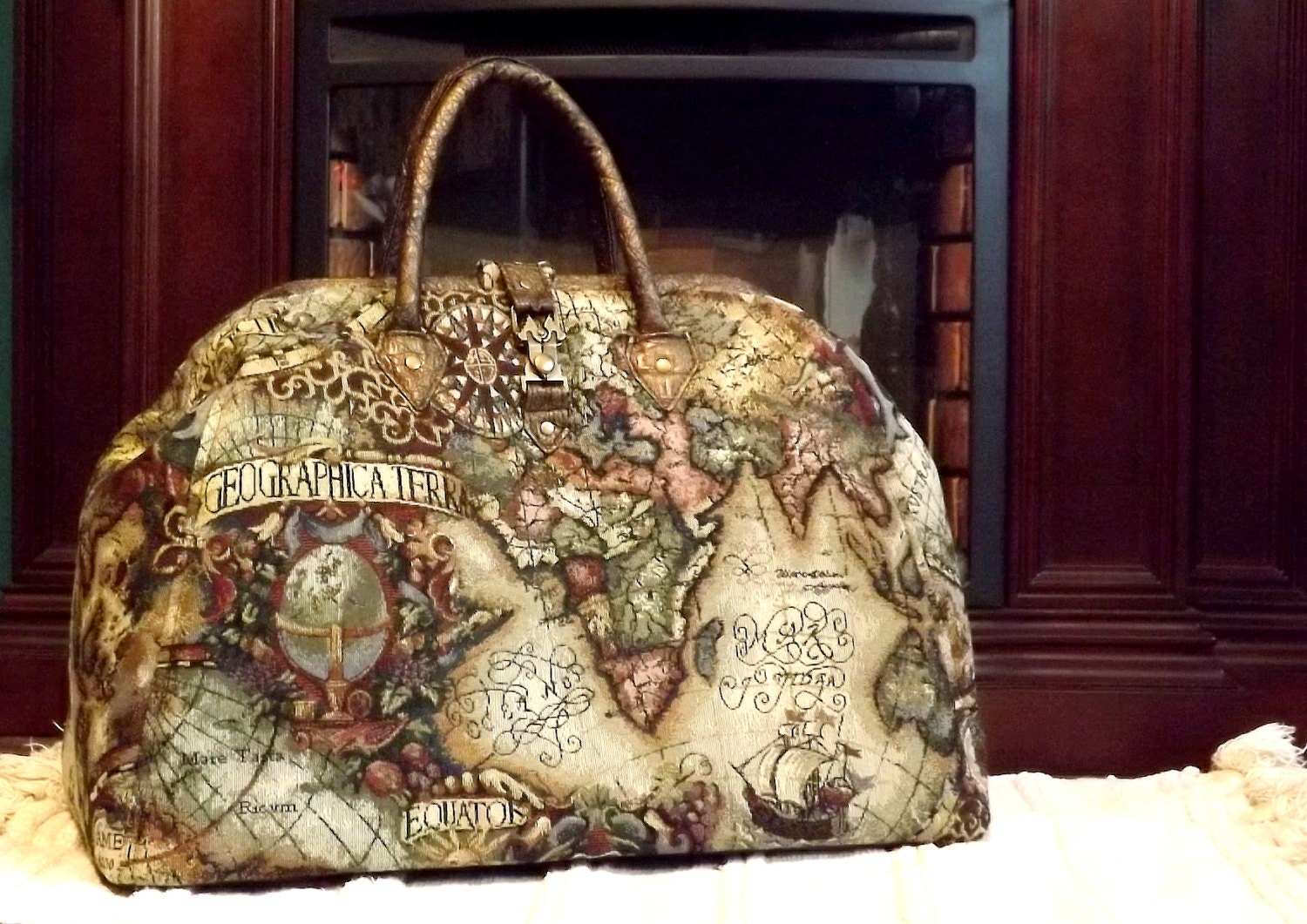 Mary poppins style steampunk carpet bag travel bag old world zoom gumiabroncs Choice Image