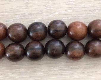Tiger Ebony wood beads, Round Wood Beads, Large Wood Beads, 20 mm