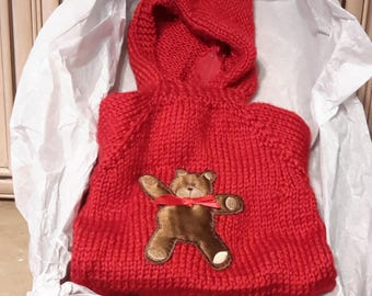 Handmade hooded baby sweater