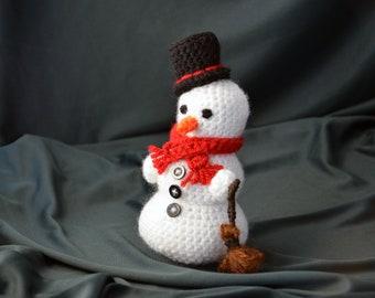 Frosty the Snowman Crochet Pattern, Amigurumi Snowman Pattern, Crochet Snowman Pattern, Christmas Crochet Pattern, Winter Crochet