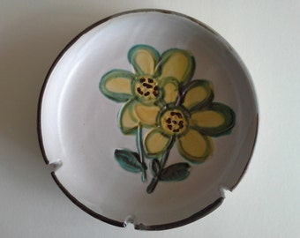 Vintage Ashtray,  B Welch, Pacific Stoneware.