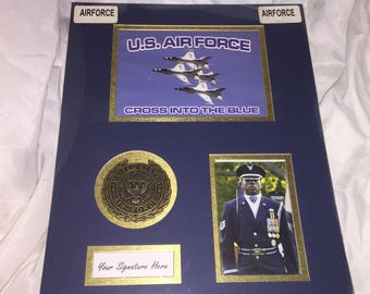 Beautiful New Old Stock US AIR FORCE Matt For Framing  Your Airman' s favorite photos  10a