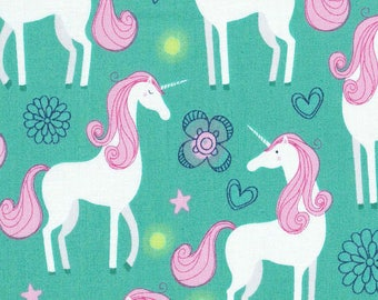 Pretty Unicorns on Turquoise ~Custom Made Fitted Crib Sheets and Pillow Cases~