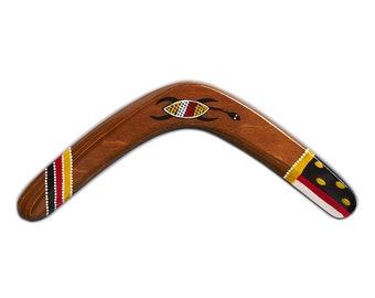 Boomerang Banan Ethno Turtle right-handed Classical banana shape real returning wooden boomerang great gift