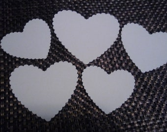 Scalloped heart Die Cut Shapes, Die Cut for Card Making, Scrapbooking and Paper Crafts, Cricut Die Cut Square