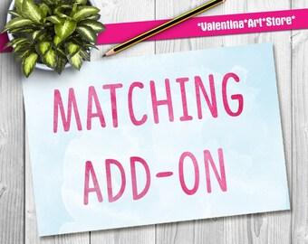 Matching Add-Ons